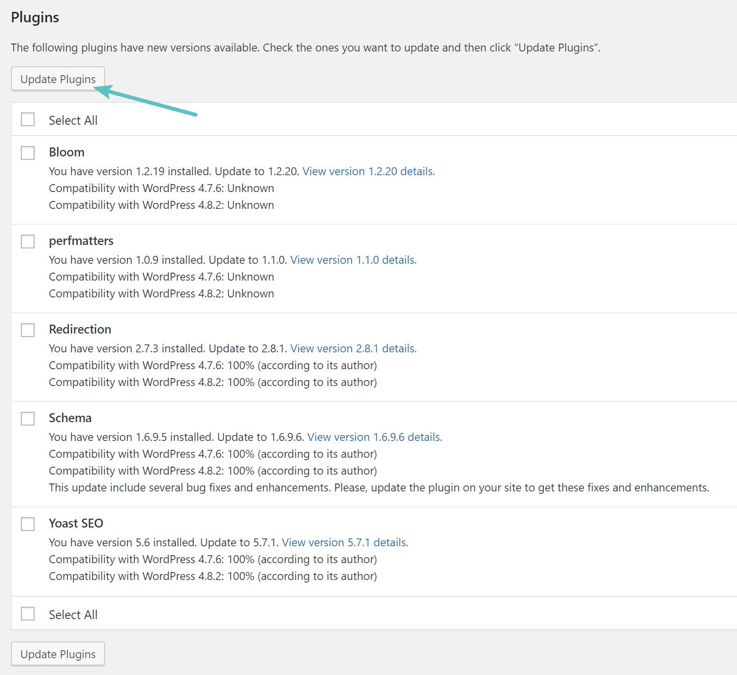 WordPressプラグインの更新