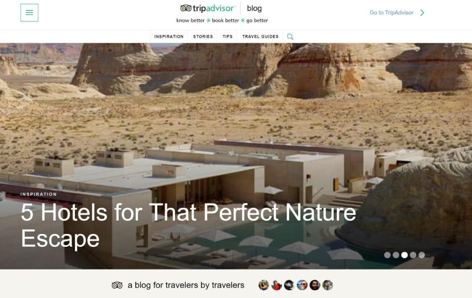 TripAdvisorのブログ