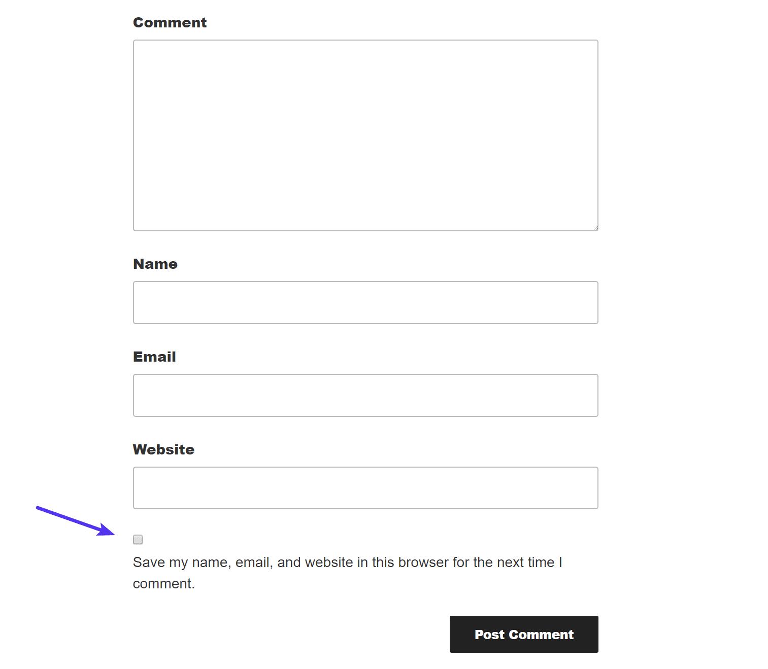 WordPress独自のコメントシステムのGDPR対応