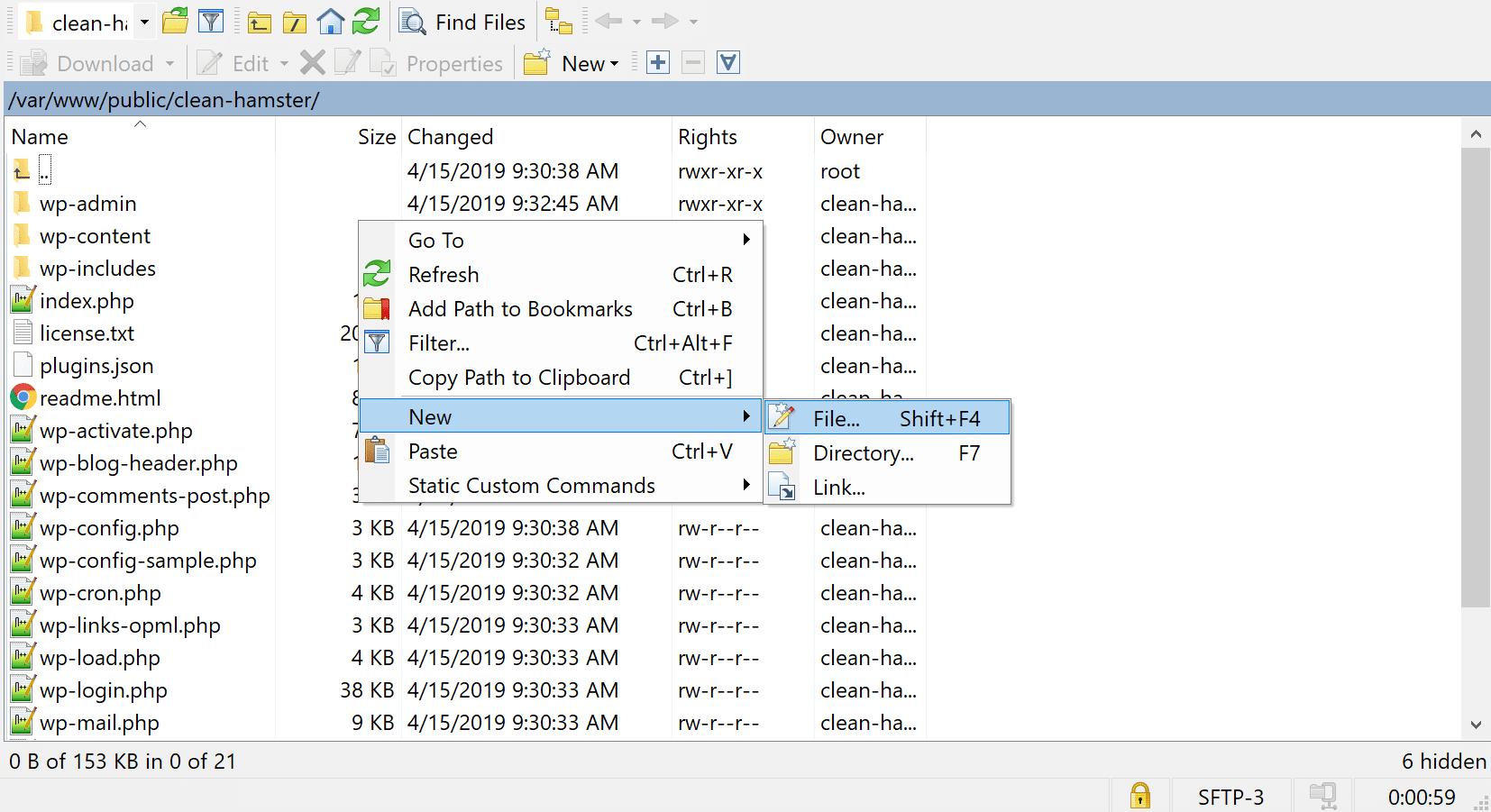 新しいphp.iniファイルを作成する