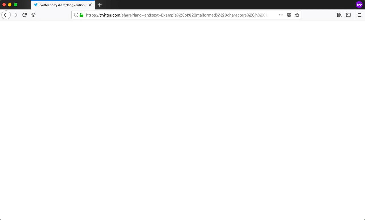 Firefoxで見た「400 Bad Request」エラー