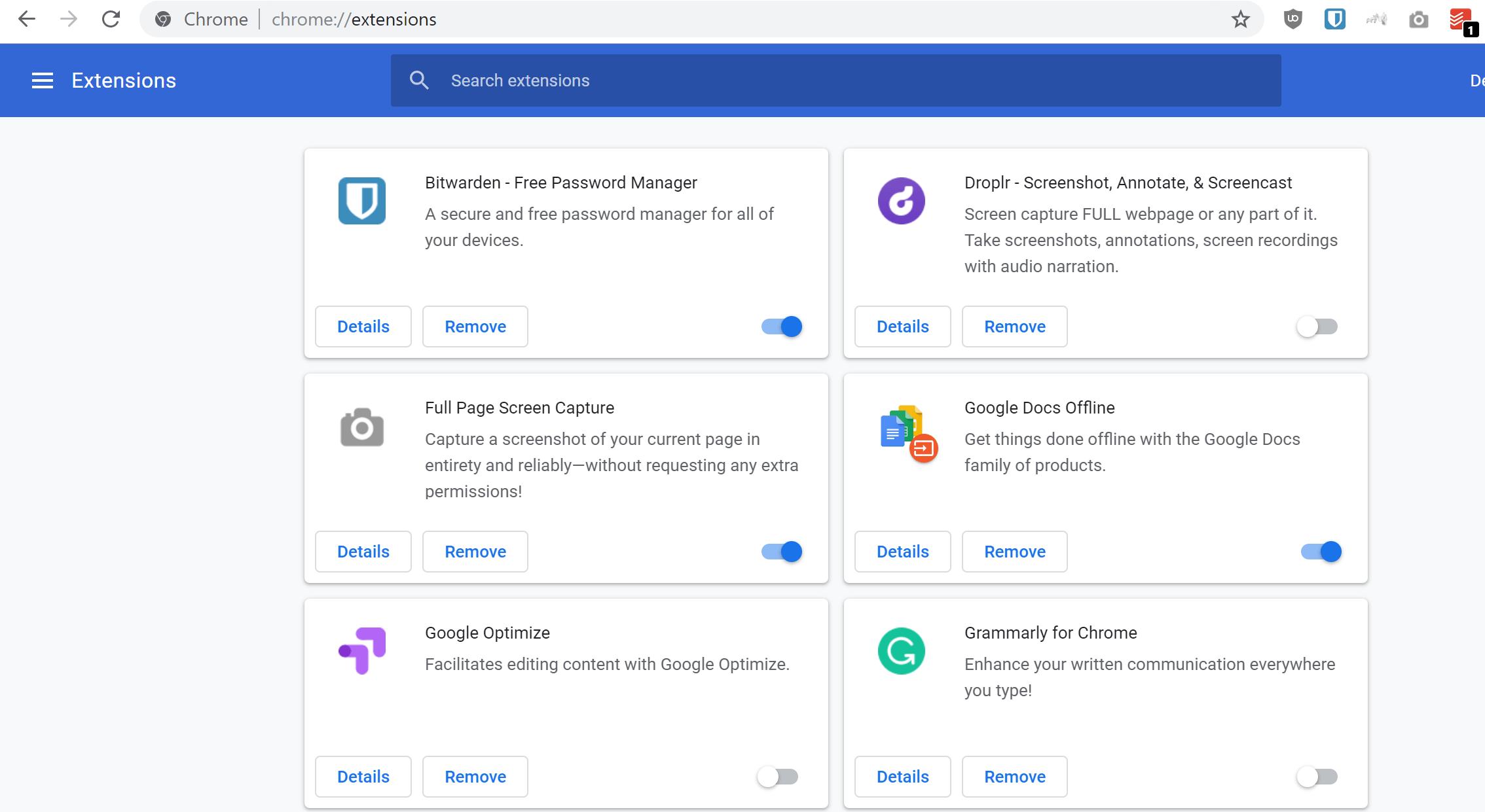 Chromeの拡張機能を無効にする