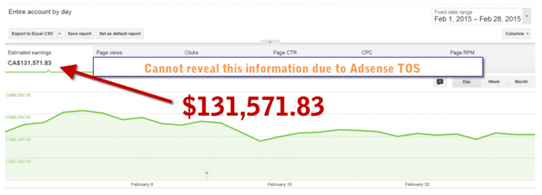 AdSenseの収益