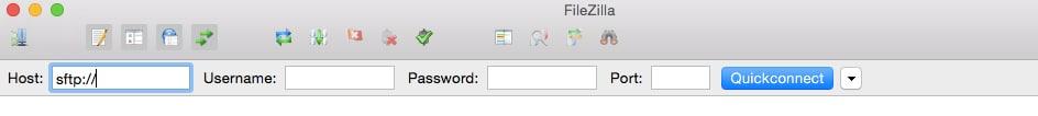 FileZillaへのログイン