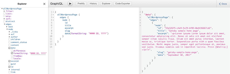 GraphQLで見たデータのクエリ