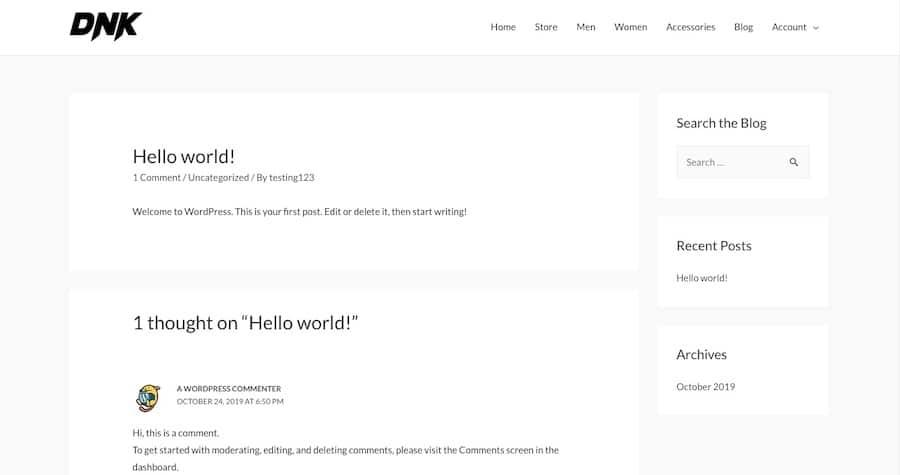 「検索」バーをブログページに追加