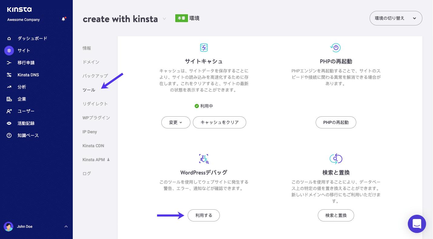 WP_Debugツール