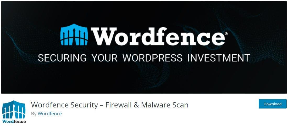 Wordfence SecurityはWordPressの無料セキュリティプラグイン