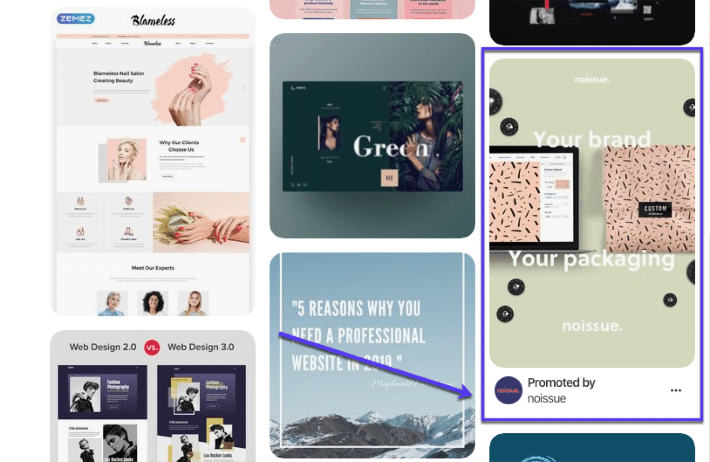 Pinterest広告の例