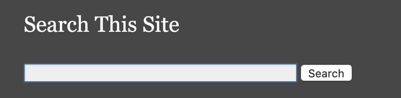 「検索」ウィジェット