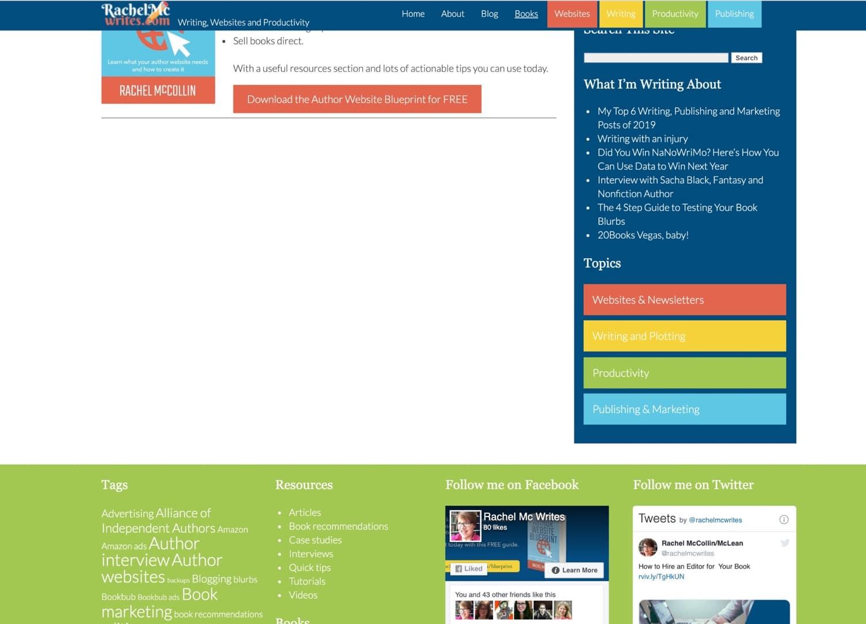 サイトに表示されるウィジェットエリアの一例