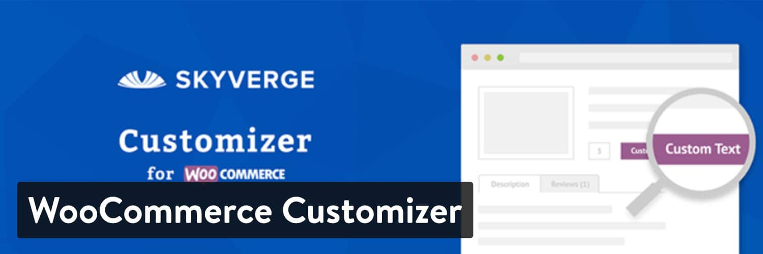 WooCommerce Customizer WordPressプラグイン