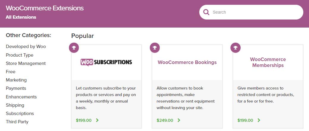 WooCommerce拡張機能はストアの機能を増強する