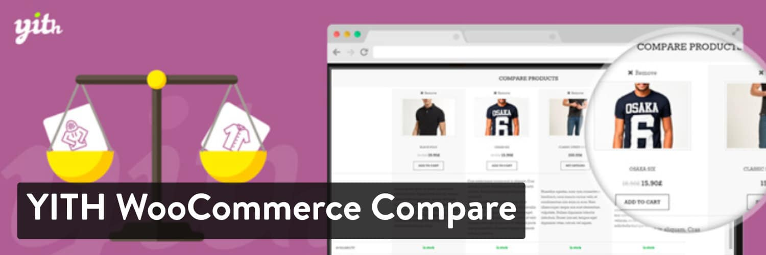 YITH WooCommerce Compare WordPressプラグイン