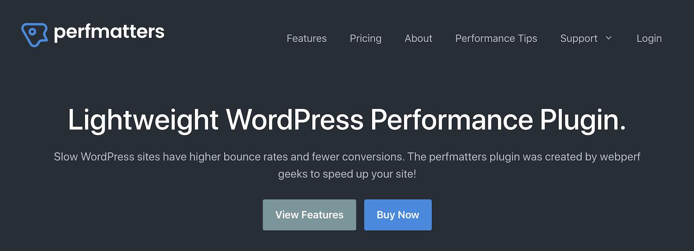 WordPressプラグイン「Perfmatters」