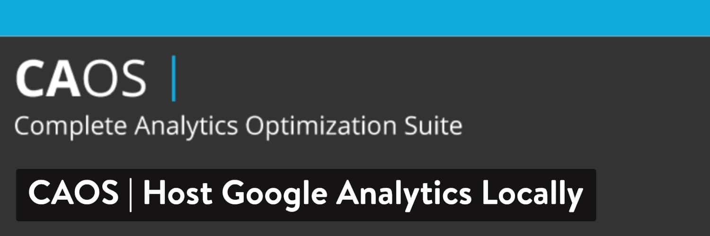 WordPressプラグイン「CAOS | Host Google Analytics Locally」