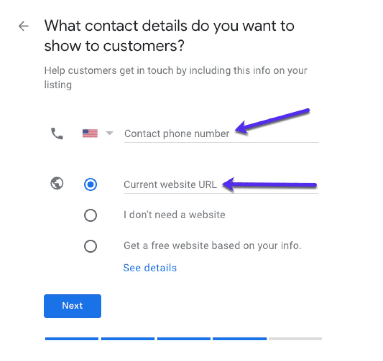 Googleマイビジネスで連絡先情報を追加する