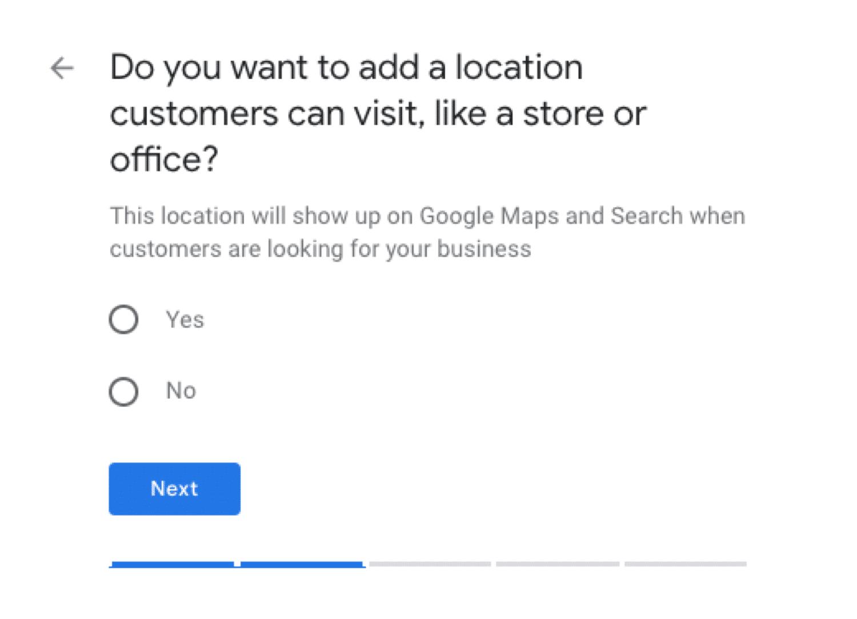 Googleマイビジネスで所在地を設定