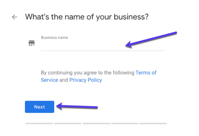 Googleマイビジネスにビジネスの名前を追加