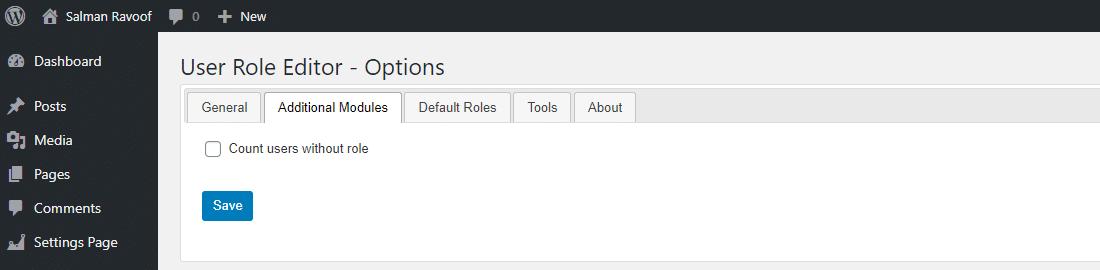 追加モジュールではUser Role Editorの機能の拡張が可能
