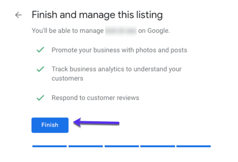 Googleマイビジネスの入力を完了する