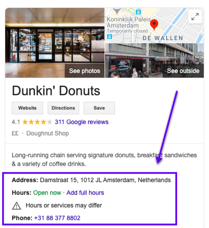 ビジネス名、所在地、電話番号はGoogleマイビジネスで必須の情報