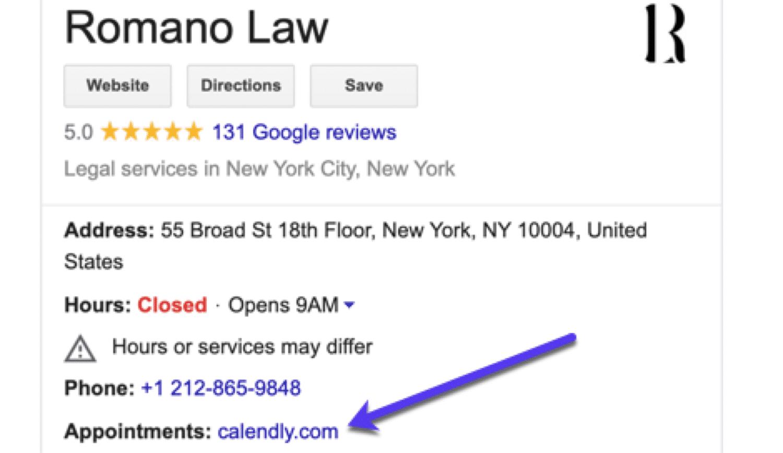 顧客がGoogleマイビジネスから予約できる機能を追加