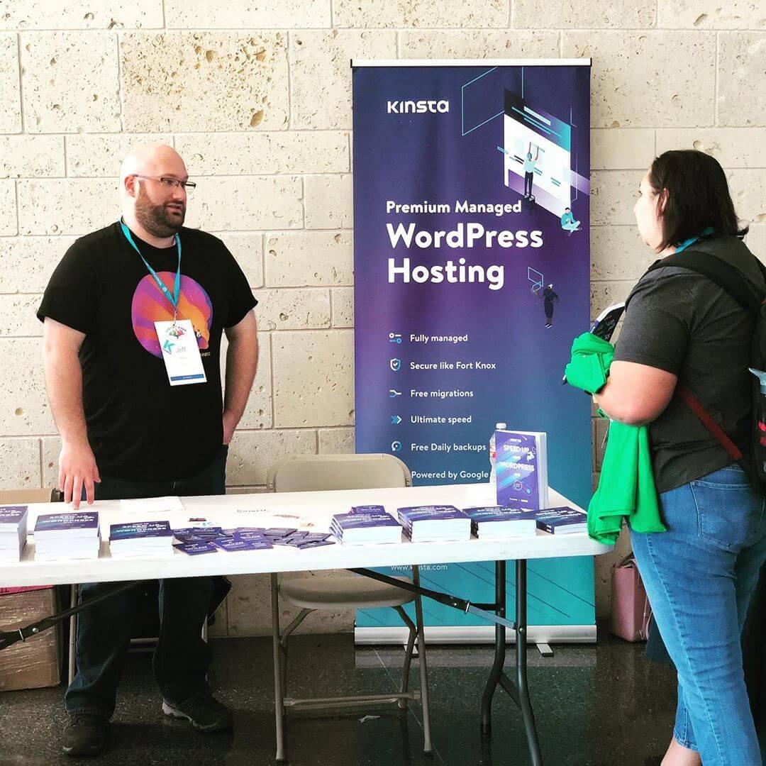 Het Kinsta team bij WordCamp Dallas