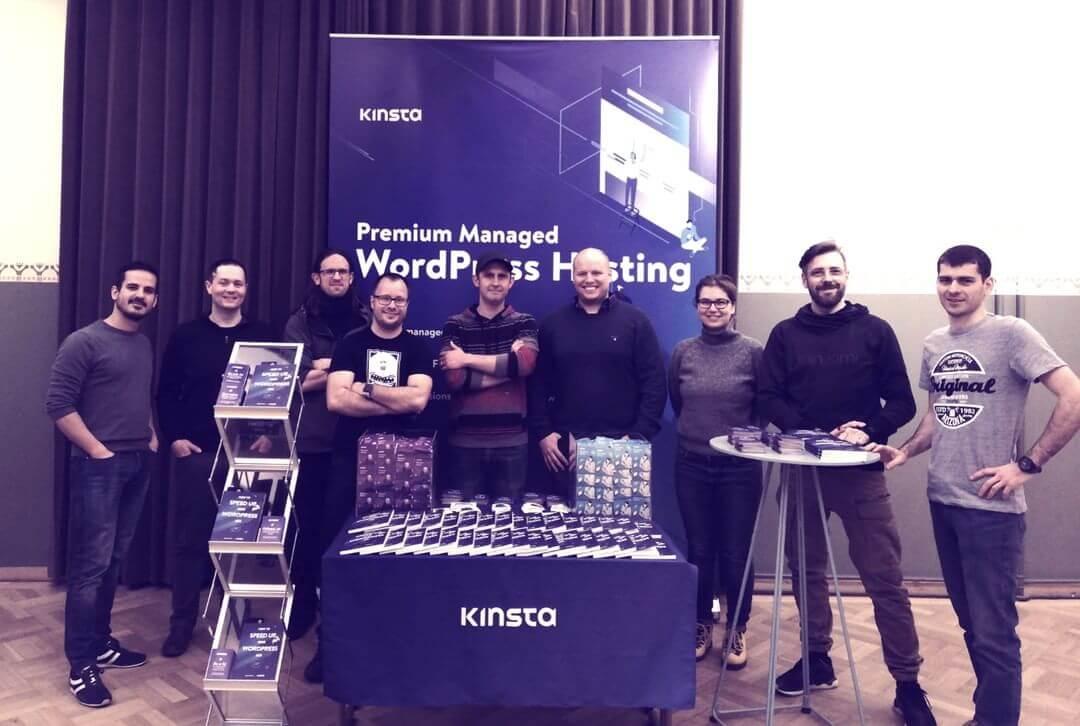 Het Kinsta team bij WordCamp Nordic