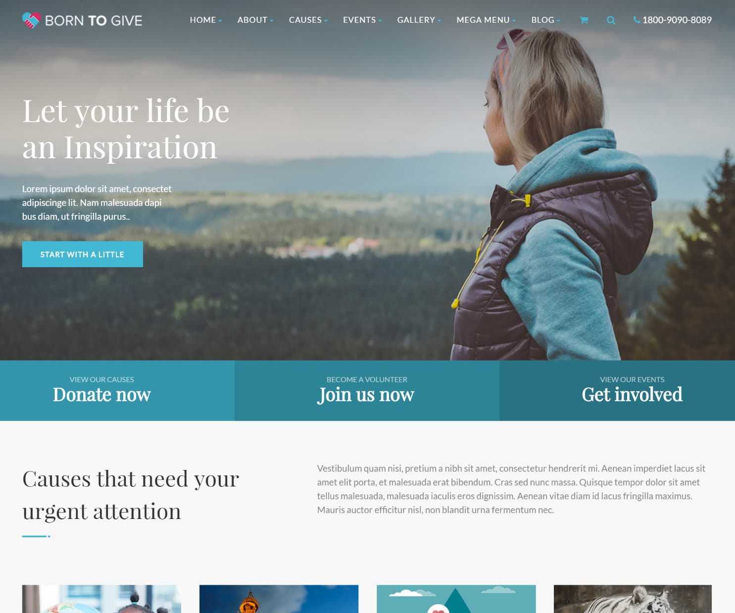 born to give wordpress thema