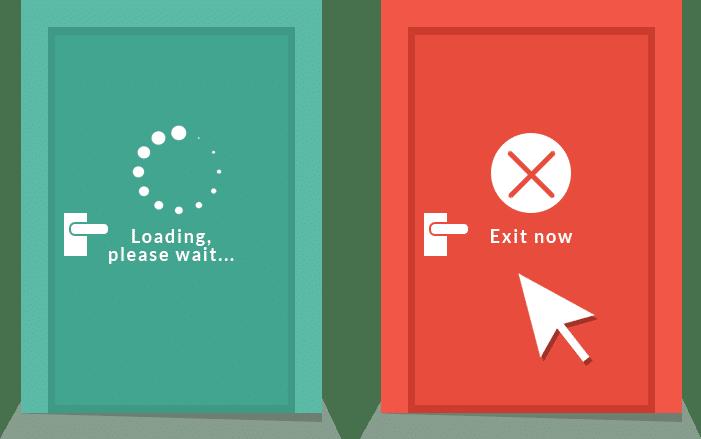 Langzame websites verlaten