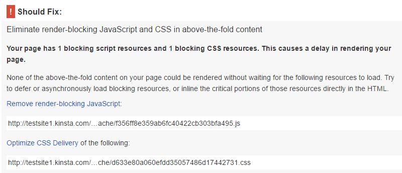 PageSpeed Insights met de Hummingbird plugin