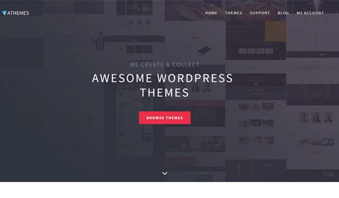 athemes wordpress site
