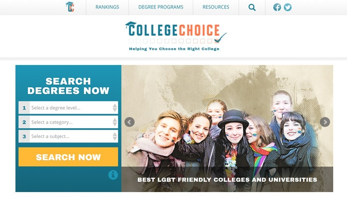 college choice wordpress site