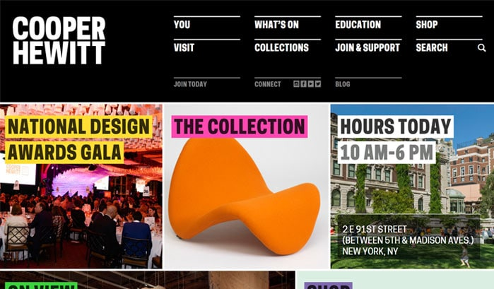 cooper hewitt wordpress site