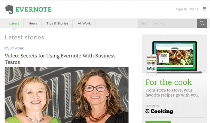 evernote wordpress site
