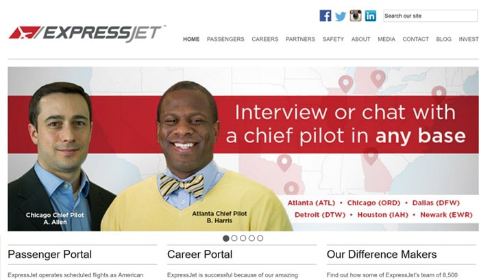 expressjet wordpress site