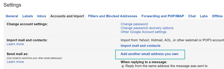Gmail 'verzenden als'-functie