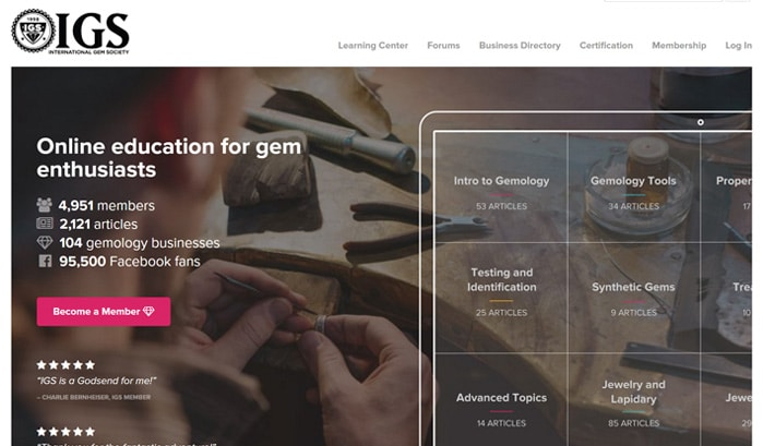 international gem society wordpress site