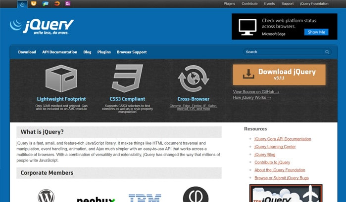 jquery wordpress sites