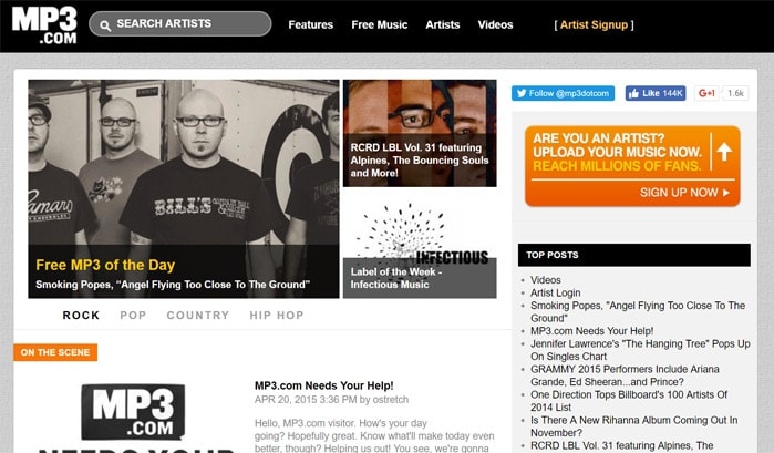 mp3 wordpress site
