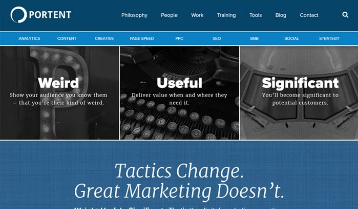 portent wordpress site