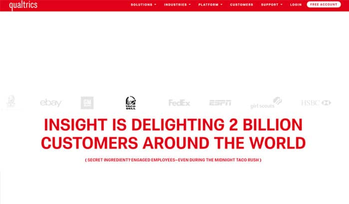 qualtrics wordpress site
