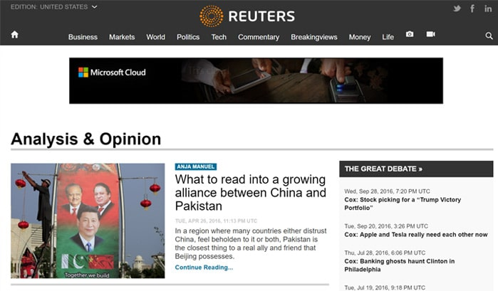 reuters wordpress site