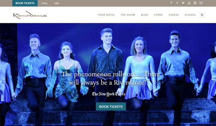 riverdance wordpress site