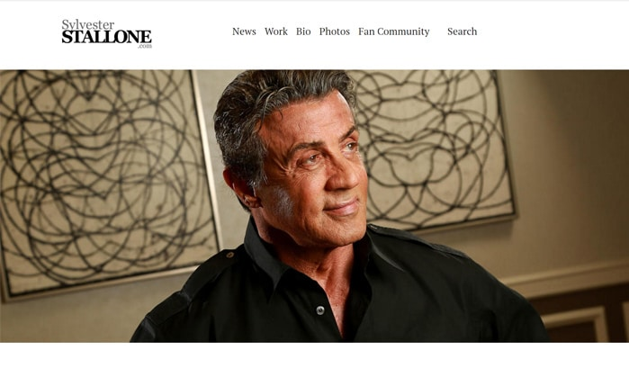 sylvester stallone wordpress site