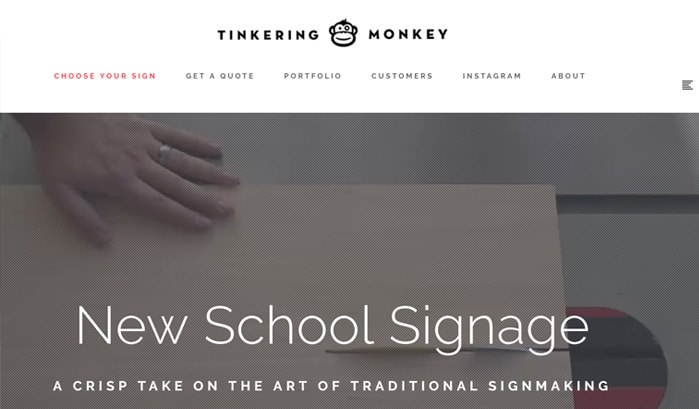 tinkering monkey wordpress site