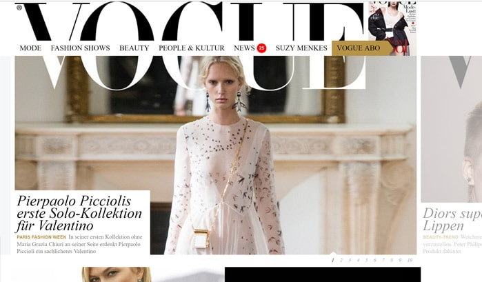 vogue wordpress site