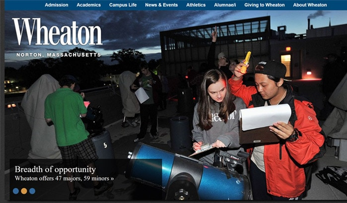 wheaton college wordpress site