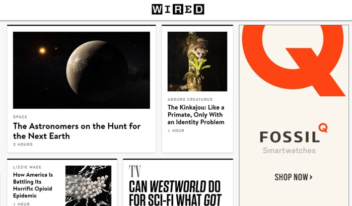 wired wordpress site